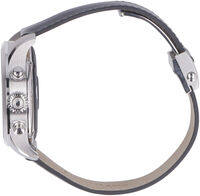 Summit digital watch with leather strap