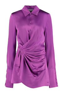 Satin shirtdress, Mini dresses The Attico woman