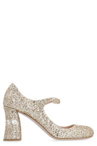 Décolleté mary-jane  glitterate, Tacco alto Miu Miu woman