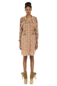 Checked cotton shirtdress, Knee Lenght Dresses Burberry woman