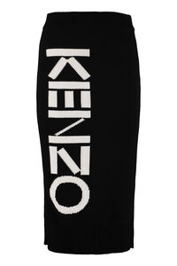 Logo detail knitted skirt, Pencil skirts Kenzo woman
