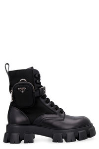 Monolith leather lace-up boots, Lace-up boots Prada man