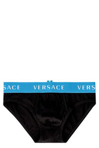 Cotton panties with elastic band, Briefs Versace man