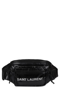 Logo print nylon belt bag, Beltbag Saint Laurent man