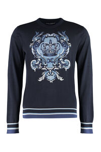 Intarsia silk sweater, Crew necks sweaters Dolce & Gabbana man