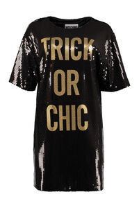 Sequined mini-dress, Mini dresses Moschino woman