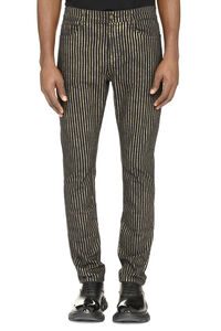 Striped skinny jeans, Skinny jeans Saint Laurent man