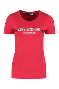 Logo cotton T-shirt, T-shirts Love Moschino woman