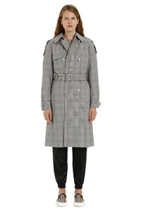 Checked wool trench coat, Raincoats And Windbreaker MICHAEL MICHAEL KORS woman