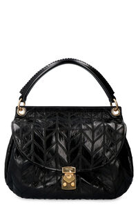 Leather shoulder bag, Top handle Miu Miu woman