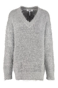V neck pullover, V neck sweaters MSGM woman