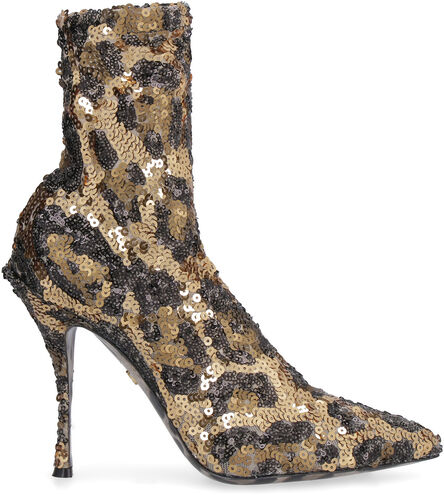 Sequined pointy-toe sock-boots, Ankle Boots Dolce & Gabbana woman