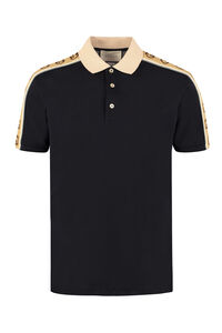 Cotton piqué polo shirt, Short sleeve polo shirts Gucci man