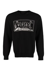 Cotton crew-neck sweater, Crew necks sweaters Versace man
