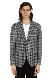 Check motif blazer, Single breasted blazers Tagliatore man
