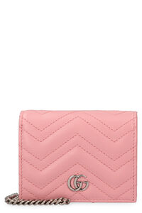 GG Marmont leather wallet on chain, Wallets Gucci woman