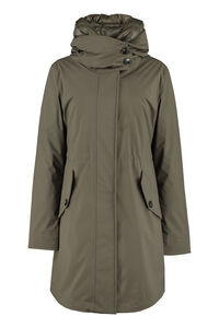 Technical fabric parka with internal removable down jacket, Raincoats And Windbreaker Woolrich woman