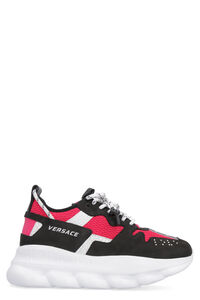 Sneakers Chain Reaction in suede e tessuto tecnico, Sneakers basse Versace woman