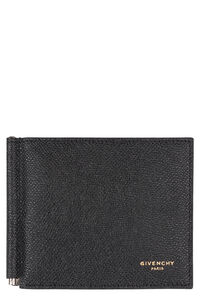 Logo detailed leather wallet, Wallets Givenchy man