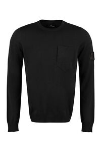 Shadow Project - Crew-neck wool sweater, Crew necks sweaters Stone Island man