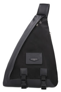 Nylon backpack with leather details, Backpack Givenchy man