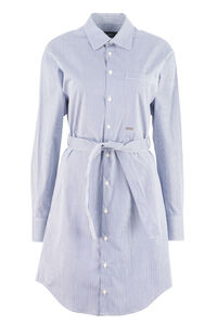 Belted cotton shirtdress, Mini dresses Dsquared2 woman