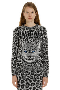 Jacquard knit sweater, Crew neck sweaters Alberta Ferretti woman
