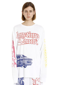 Printed long-sleeves t-shirt, Long sleeved CALVIN KLEIN JEANS EST. 1978 woman