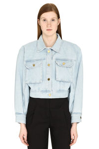 Cropped denim jacket, Denim Jackets Alberta Ferretti woman