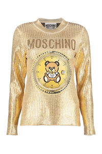 Embroidered ribbed sweater, Crew neck sweaters Moschino woman