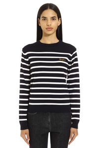 Striped wool pullover, Crew neck sweaters Maison Labiche woman