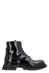 Wander leather combat boots, Ankle Boots Alexander McQueen woman
