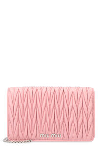 Quilted leather clutch, Clutch Miu Miu woman