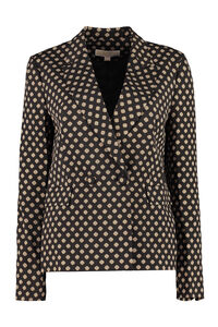 Printed double breasted blazer, Blazers MICHAEL MICHAEL KORS woman