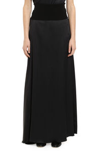 Long satin skirt, Maxi skirts Fabiana Filippi woman