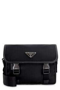 Nylon and leather bag, Shoulderbag Prada woman