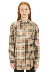 Cotton shirt with button-down collar, Shirts Burberry woman