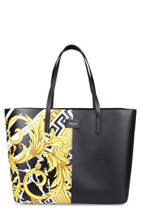 Printed leather tote, Tote bags Versace woman