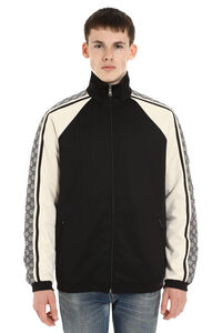 Techno fabric jacket, Zip through Gucci man