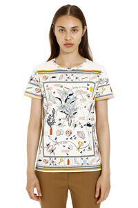 Printed cotton t-shirt, T-shirts Tory Burch woman