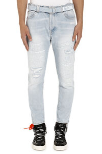 Belted slim-fit jeans, Slim jeans Off-White man