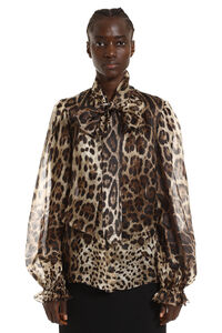 Printed blouse with wrinkles, Printed tops Dolce & Gabbana woman