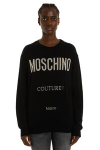 Intarsia wool sweater, Crew neck sweaters Moschino woman