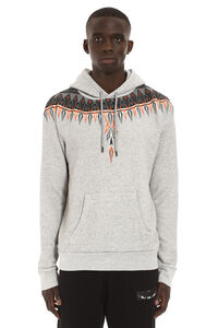 Printed cotton hoodie, Hoodies Marcelo Burlon County of Milan man