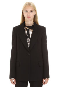 Single-breasted jacket with one button, Casual Jackets MSGM woman