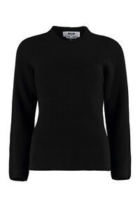 Ribbed crew-neck sweater, Crew neck sweaters MSGM woman