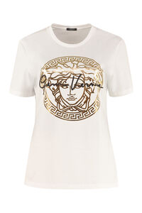 Printed cotton T-shirt, T-shirts Versace woman