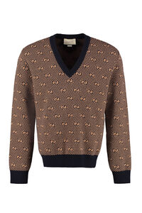 Wool V-neck sweater, V-necks Gucci man