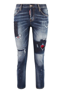 Jeans Cool Girl con usure localizzate, Jeans straight Dsquared2 woman