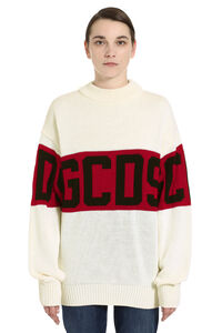 GCDS intarsia sweater, Crew neck sweaters GCDS woman